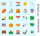 icons set about united states.... | Shutterstock .eps vector #797139136