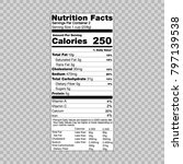 nutrition facts information... | Shutterstock .eps vector #797139538