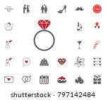 ring icon. marry me. valentines ... | Shutterstock .eps vector #797142484