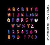 vector fonts   handwritten... | Shutterstock .eps vector #797145358