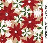 seamless christmas background... | Shutterstock .eps vector #797149504