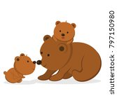 brown bear vector | Shutterstock .eps vector #797150980
