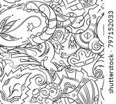 seamless mehndi vector pattern. ... | Shutterstock .eps vector #797152033