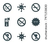 prohibition icons. set of 9...   Shutterstock .eps vector #797153830