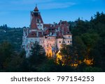 bran castle known as dracula's... | Shutterstock . vector #797154253