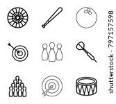 hit icons. set of 9 editable... | Shutterstock .eps vector #797157598