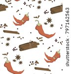 seamless spice pattern ...   Shutterstock .eps vector #797162563