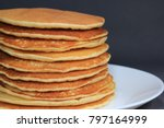 front view of stack of homemade ... | Shutterstock . vector #797164999