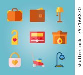 icon set about real assets.... | Shutterstock .eps vector #797166370