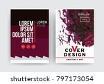 vector set of 2 pages with... | Shutterstock .eps vector #797173054