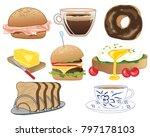 an illustration of types of... | Shutterstock . vector #797178103