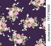 seamless summer pattern with... | Shutterstock . vector #797179000
