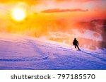 skier  ski resort  sport photo  ...   Shutterstock . vector #797185570