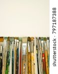 well used artists paintbrushes... | Shutterstock . vector #797187388