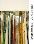 well used artists paintbrushes... | Shutterstock . vector #797187400