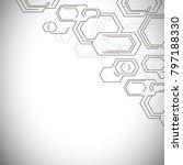 hexagons structure lattice.... | Shutterstock .eps vector #797188330