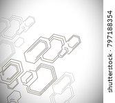 hexagons structure lattice.... | Shutterstock .eps vector #797188354