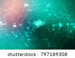 realistic human liver 2d... | Shutterstock . vector #797189308