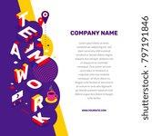 work people together concept.... | Shutterstock .eps vector #797191846