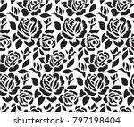 stencil for laser cutting.... | Shutterstock .eps vector #797198404