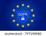 gdpr   general data protection... | Shutterstock .eps vector #797198980