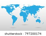 map of the world isolated on... | Shutterstock .eps vector #797200174