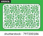 stencil for laser cutting.... | Shutterstock .eps vector #797200186