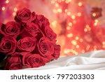 Red Rose Dozen Bouquet With...