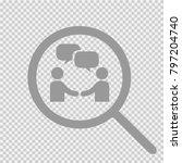 handshake and bubbles vector... | Shutterstock .eps vector #797204740