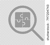 puzzle vector icon eps 10.... | Shutterstock .eps vector #797204743