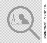 man working on computer.... | Shutterstock .eps vector #797204746