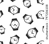 watch clock seamless pattern...