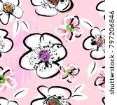 floral seamless pattern... | Shutterstock .eps vector #797206846