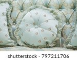 pillow on the classic couch ... | Shutterstock . vector #797211706