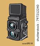vector sketch style of retro... | Shutterstock .eps vector #797212240