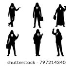 vector illustration of six... | Shutterstock .eps vector #797214340