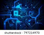 high tech electronic circuit...   Shutterstock .eps vector #797214970