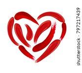 heart of makeup set  strokes... | Shutterstock .eps vector #797217439