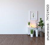idea of a white scandinavian... | Shutterstock . vector #797219020