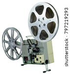 a movie projector is an opto...   Shutterstock . vector #797219293