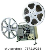 a movie projector is an opto...   Shutterstock . vector #797219296