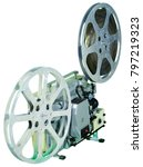 a movie projector is an opto...   Shutterstock . vector #797219323