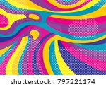 creative geometric colorful... | Shutterstock .eps vector #797221174