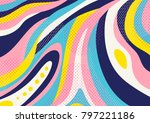 creative geometric colorful... | Shutterstock .eps vector #797221186