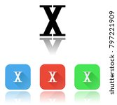 x roman numeral icons. colored... | Shutterstock .eps vector #797221909