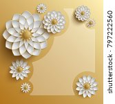 3d golden arabesque style... | Shutterstock . vector #797222560