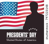 happy presidents day poster.... | Shutterstock . vector #797223148