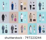 lifelike male and female human...   Shutterstock . vector #797223244