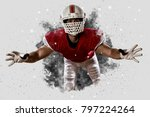 football player with a red... | Shutterstock . vector #797224264