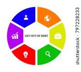 business infographics. pie... | Shutterstock .eps vector #797228233